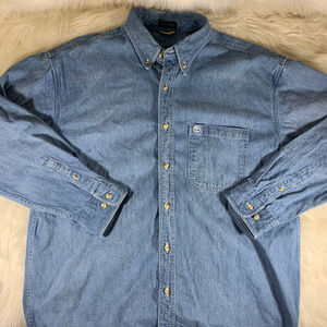 Timberland Denim Button Down NWOT Size Large